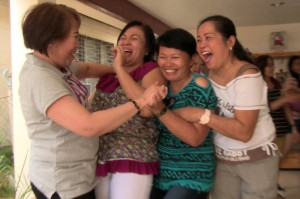 Film Still - Ninfa sees old friends in Cebu in the wake of her return to the Philippines
