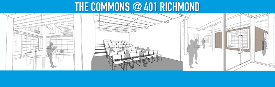 Support our new home: The Commons @ 401 Richmond. Donate today!