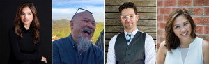 Board members L to R: Kristle Bautista, Michael Fukushima, Aron Levitz, Sydney Wong